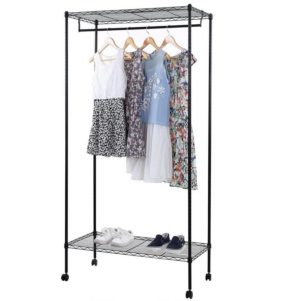 Ktaxon Closet System Storage Organizer Garment Rack Clothes Hanger Dry Shelf Heavy Duty