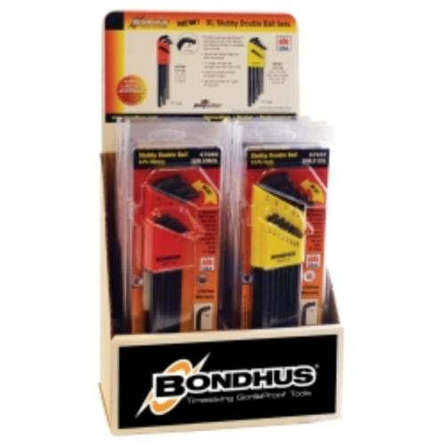 Bondhus 67098 10 Double Ball End Stubby L-wrench Sets Display