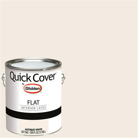 glidden quick cover interior paint flat finish antique white 1 gallon. Black Bedroom Furniture Sets. Home Design Ideas