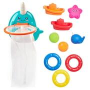 Spark. Create. Imagine. Bath Activity Toy Set, Narwhal Theme, 10 Pieces