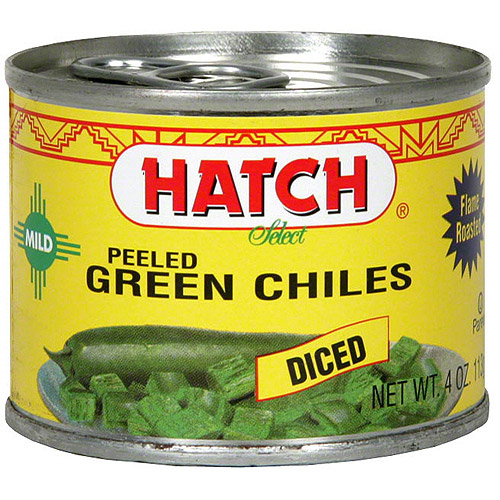 Hatch Diced Mild Green Chilies, 4 oz (Pack of 24)