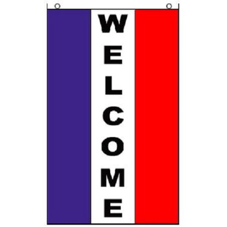 WELCOME Vertical Flag Business Advertising Banner Store Pennant 2 x 3 Foot 2x3