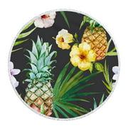 Mikilon Flower Pattern Beach Swimming Pool Household Shower Towel Blanket Yoga Mat