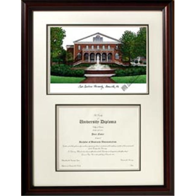 Campus Images NC995V East Carolina University ''Scholar'' Lithograph and Diploma Frame