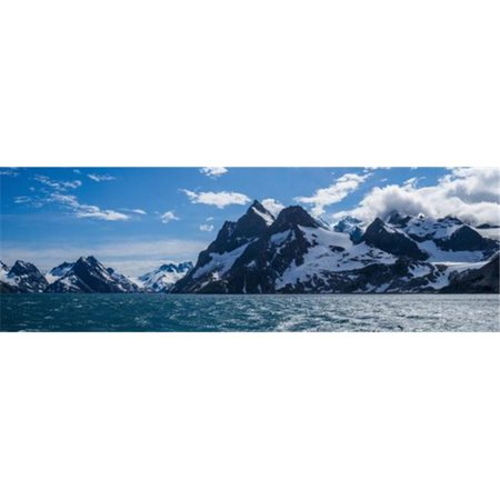 Panorama of Mountains At Entrance To Fjord - Antarctica Poster Print by Nick Dale, 36 x 12 - Large - image 1 of 1
