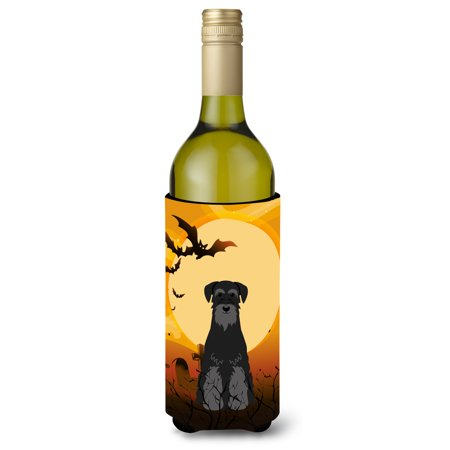 Halloween Standard Schnauzer Black Wine Bottle Beverge Insulator Hugger BB4298LITERK](Painted Wine Bottles Halloween)