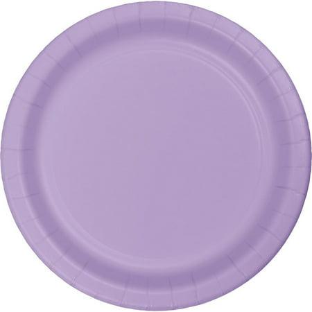 Creative Converting Luscious Lavender Purple Paper Plates, 24 ct - Purple Paper Plates
