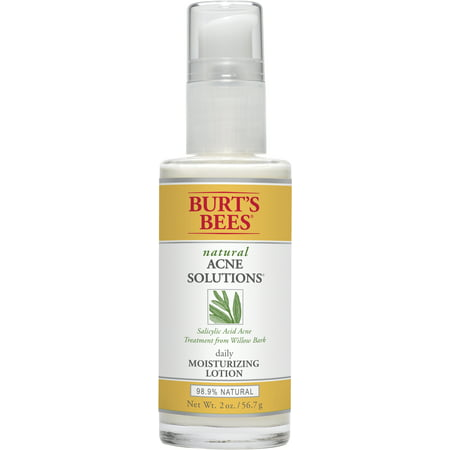 Burt's Bees Natural Acne Solutions Daily Moisturizing Lotion, Face Moisturizer For Oily Skin, 2 (Best Natural Moisturizer For Acne Skin)