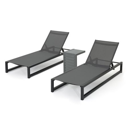 Michelle Outdoor Rust Proof Aluminum Chaise Lounges With