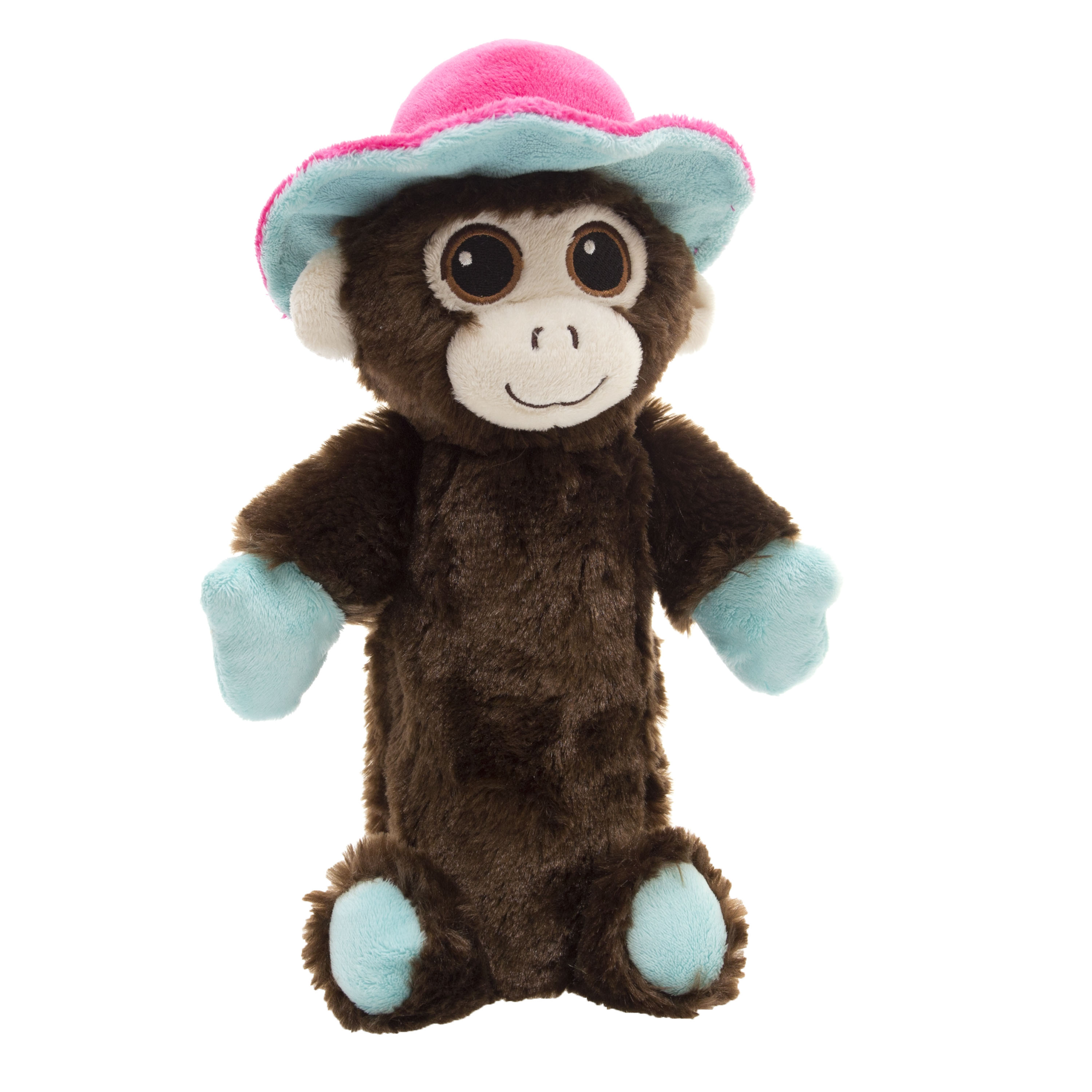 """10"""" Adorable Crunchy Plush Pet Toy with Replaceable Bottle, Monkey"""