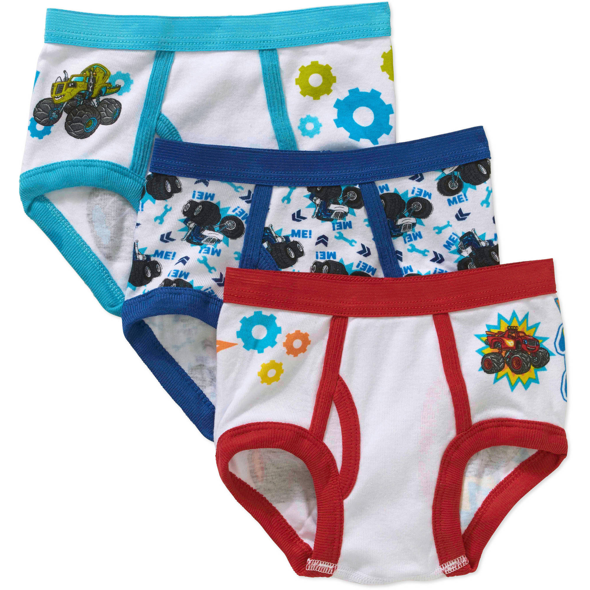 Nickelodeon Blaze Toddler Boys Underwear, 3-Pack