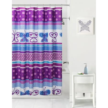 Butterfly Kids (Mainstays Kids Purple Butterfly Fabric Shower)