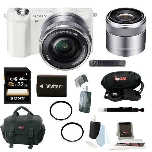 Sony a5000 Mirrorless w/ 30mm F3.5 Nex Lens and 32GB Delu...