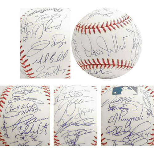 MLB - Chicago White Sox - 2005 World Series Champions - Team Signed Official Rawlings MLB Baseball with 32 Signatures