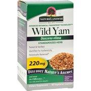 Nature's Answer Wild Yam Root Extract - 60 Vegetarian Capsules