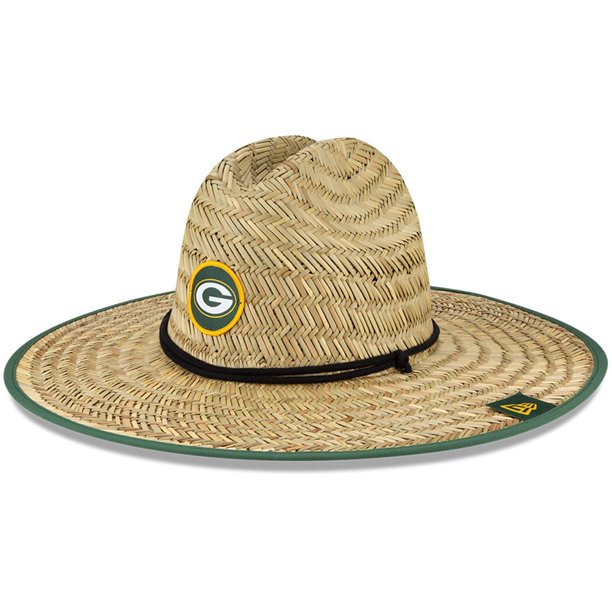 Green Bay Packers New Era 2020 Nfl Summer Sideline Official Straw Hat Natural Osfa Walmart Com Walmart Com