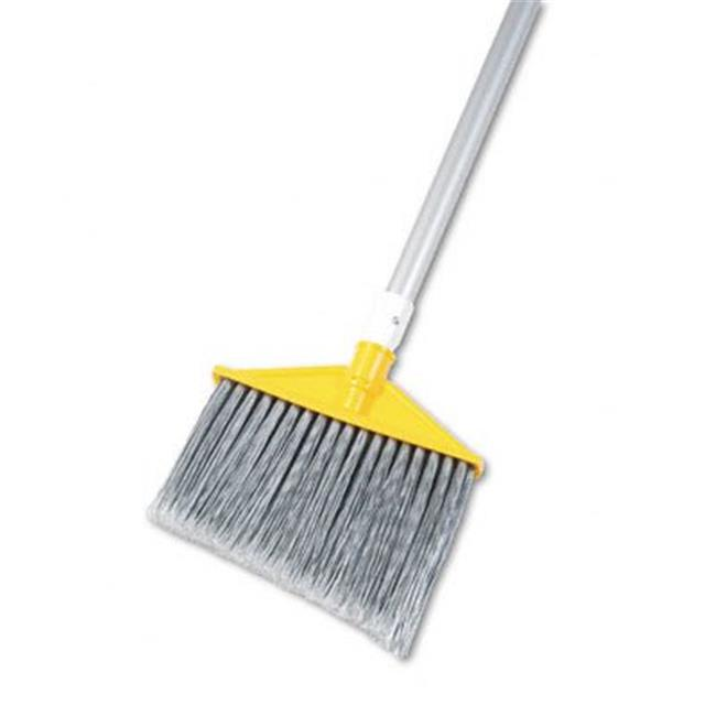 Brute Angled Large Brooms  Poly Bristles  48-7/8'' Aluminum Handle  Silver/Gray - image 1 de 1