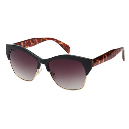 Edge I-Wear Horned Rim Half Frame sunglasses w/Gradient Lens (Iwear Sunglasses)