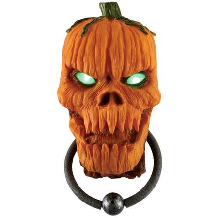 Animated Halloween Pumpkins (Fun World Animated Pumpkin Door Knocker Outdoor Prop, 15