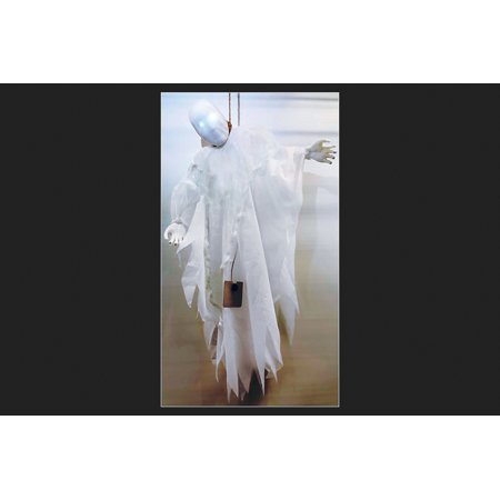 Fun World Strangling Ghost Lighted Halloween Decoration White 3 ft. - Fun Halloween Decor