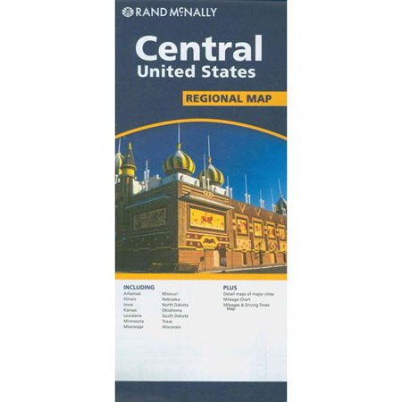 Rand McNally Central United States Regional Map Walmartcom - Us map poster walmart