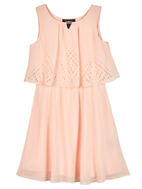 0704300791e Product Image Lasercut Popover Dress with Necklace (Big Girls). AMY BYER