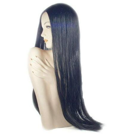 B304A Straight Long Wig, KAF5 Light Purple & Black](Long Black Wigs)