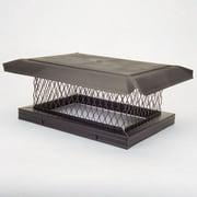 "HomeSaver 14803 8"" x 13"" Black Galvanized Steel Single-Flue Chimney Cap with 8"""