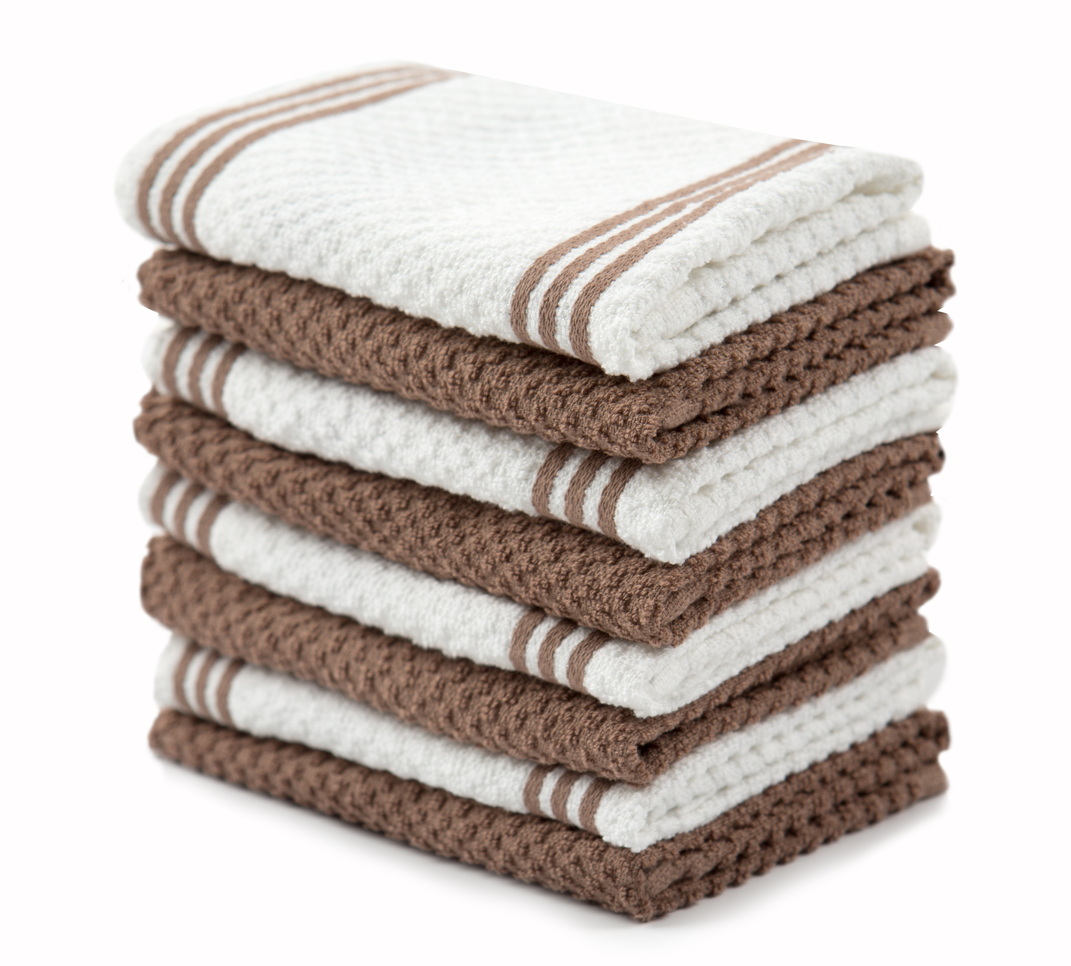 Sticky Toffee Cotton Terry Kitchen Dishcloth, 8 Pack, 12 in x 12 in, Multiple Colors Available