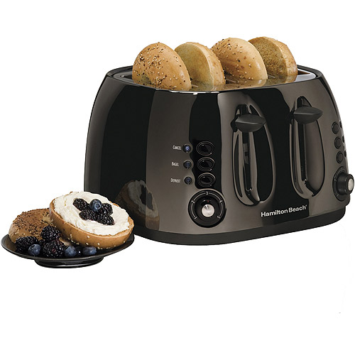Hamilton Beach 4 Slice Toaster, Black Ice