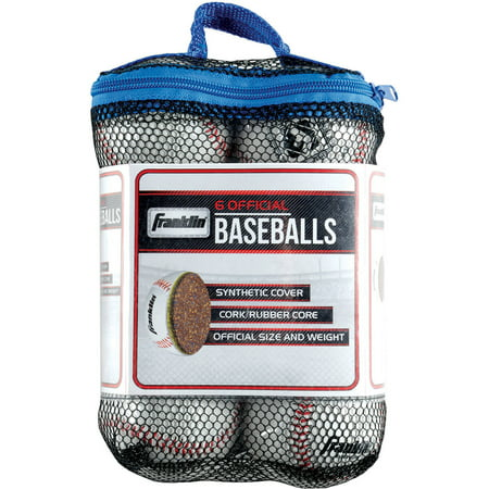 Franklin Sports Official League Practice Baseballs 6-Pack
