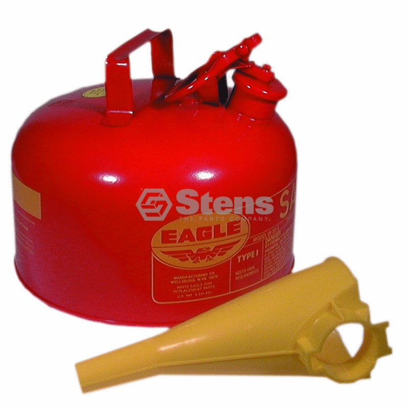 Stens Eagle Metal Safety Fuel Can / Eagle 2 Gallon With F...