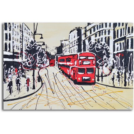 Omax Decor The Metropolis Painting On Canvas