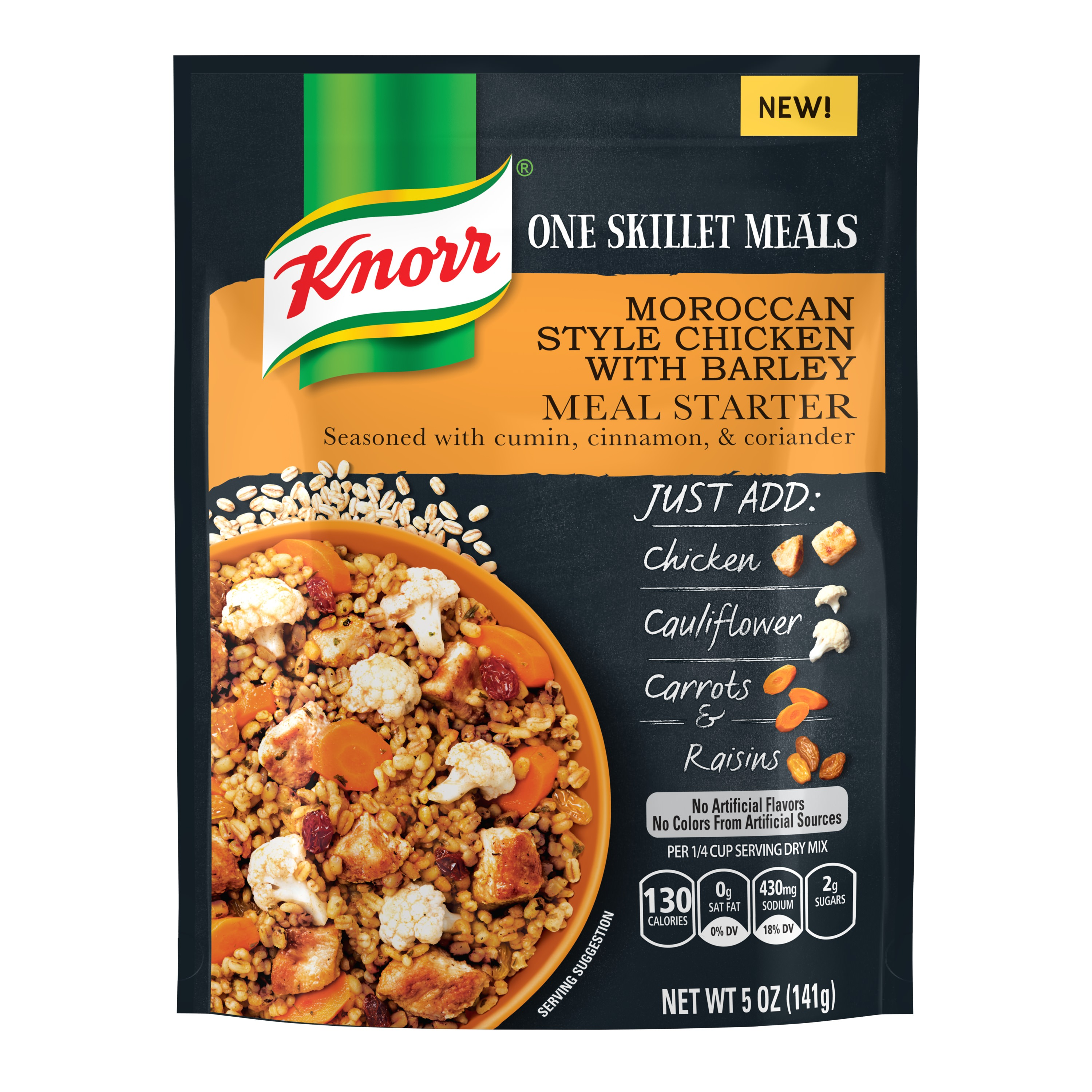 Knorr One Skillet Meals Meal Starter Moroccan Style Chicken with Barley 5 oz