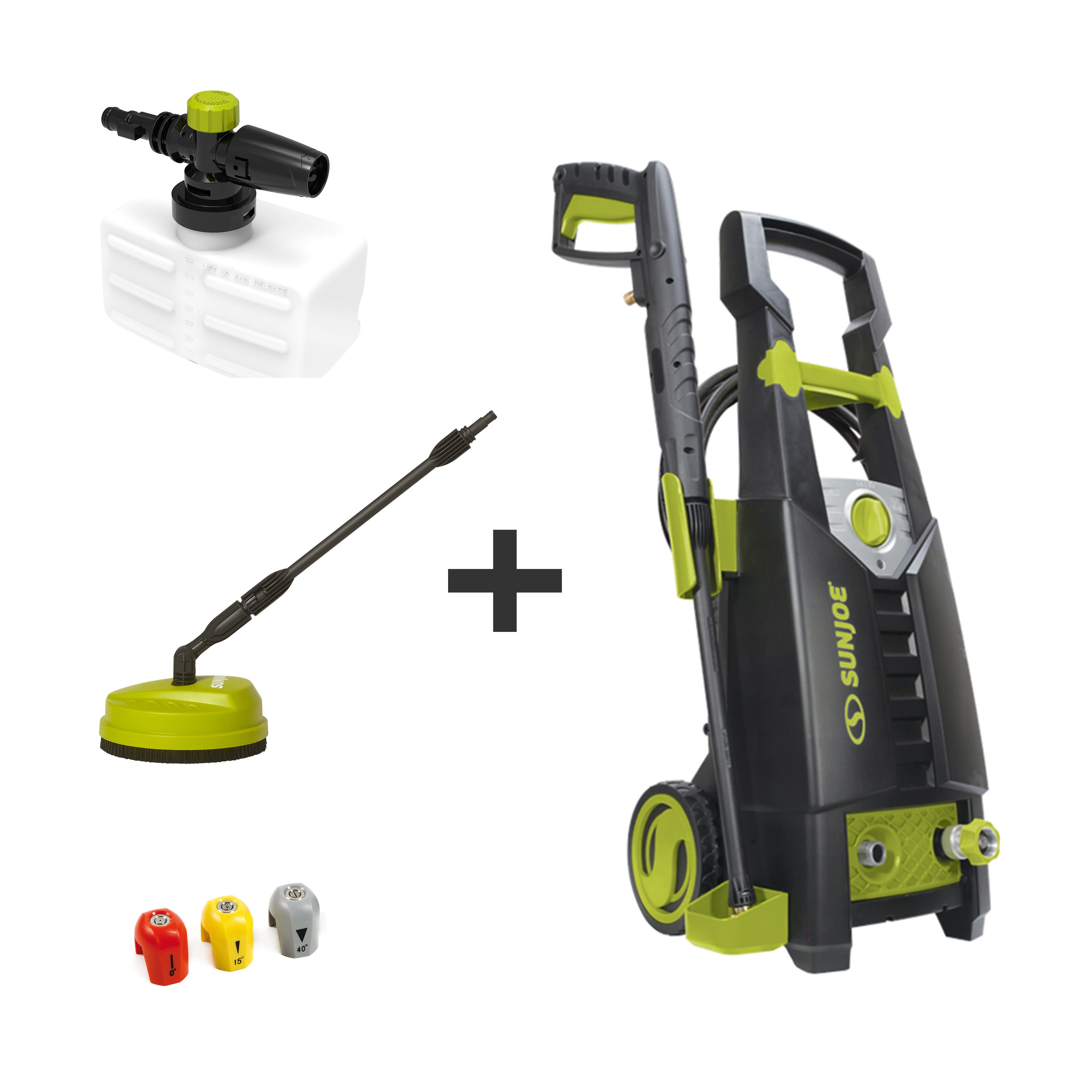 Sun Joe SPX2598P-MAX 2000 PSI 1.6 GPM 13-Amp Electric High Pressure Washer, Cleans Cars/Fences/Patios w/Bonus Patio Surface Cleaner and Foam Cannon - Walmart.com