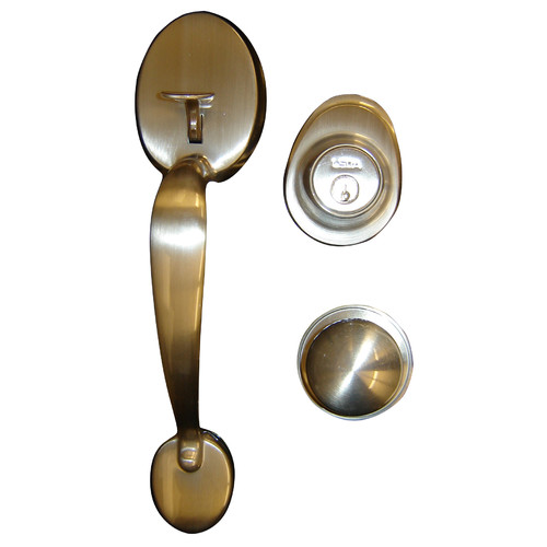 Verona Home Design Early American Single Cylinder Entrance Handleset