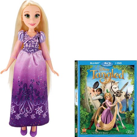 Rapunzel DVD & Rapunzel Fashion Doll Bundle
