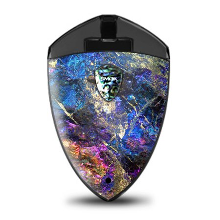 Skin Decal for Smok Rolo Badge Pod / chalcopyrite colorful purple glass rock crystal - Purple Rock