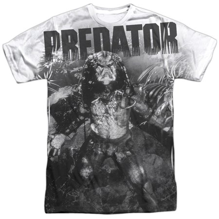 Predator 1980's Sci-Fi Horror Movie Alien in the Jungle Adult Front Print (Horror Tee T-shirt)
