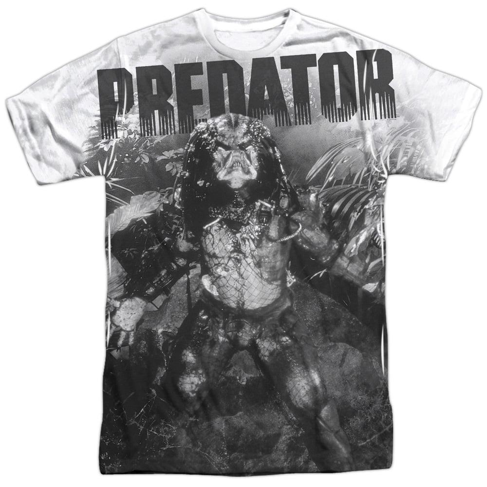 Predator 1980's Sci-Fi Horror Movie Alien in the Jungle Adult Front Print TShirt
