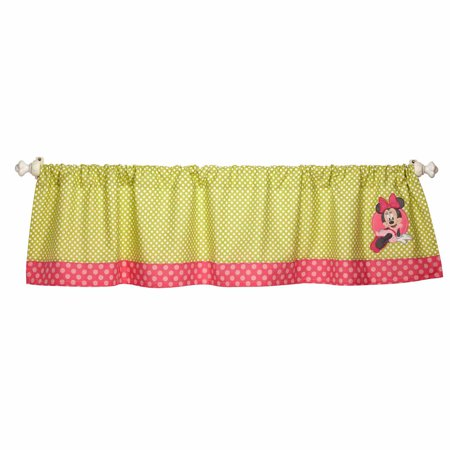 Disney Baby Bedding Minnie Mouses Petal Perfect Window Valance