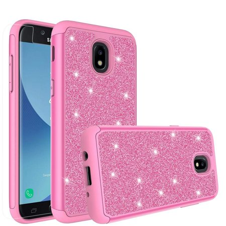 premium selection c6709 a2be4 Samsung Galaxy J7 Aero Case,Galaxy J7 Top,J7 2018,J7 Crown,J7 Refine,J7  Aura,J7 Eon,J7 Star Case, Cute Glitter Silicone Cover Phone Case for Girls  ...