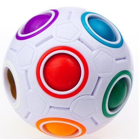 Magic Rainbow Ball Magic Cube Speed Rainbow Puzzle Ball for Children Adult Stress Reliever for $<!---->