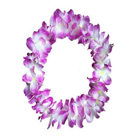 OkrayDirect 1pcs Counts Tropical Hawaiian Luau Flower Lei Party Favors - Hawaiian Graduation