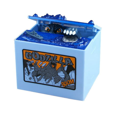 Godzilla Movie Musical Monster Moving Electronic Coin Money Piggy Bank Box
