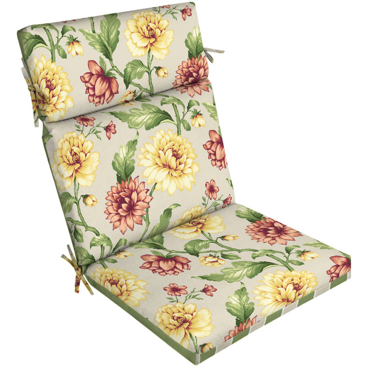 Better Homes And Gardens Outdoor Patio Reversible Dining Chair Cushion,  Floral