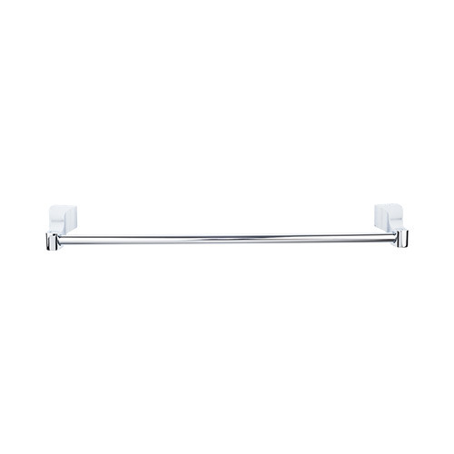 "Top Knobs AQ8PC Aqua Bath 24"" Single Towel Bar - Polished Chrome"