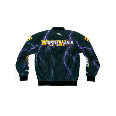 - Official WWE Authentic WrestleMania 1 Retro Fanimation Chalk Line Jacket Multi Small