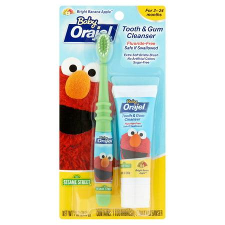 Bébé  Elmo Bright Banane Pomme Tooth -amp- Gum Kit Nettoyant 2 pc