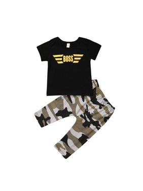 5b536617a Product Image 2PCS Newborn Toddler Baby Boy Cotton Tops T-shirt Camo Pants  Leggings Outfits Set Clothes